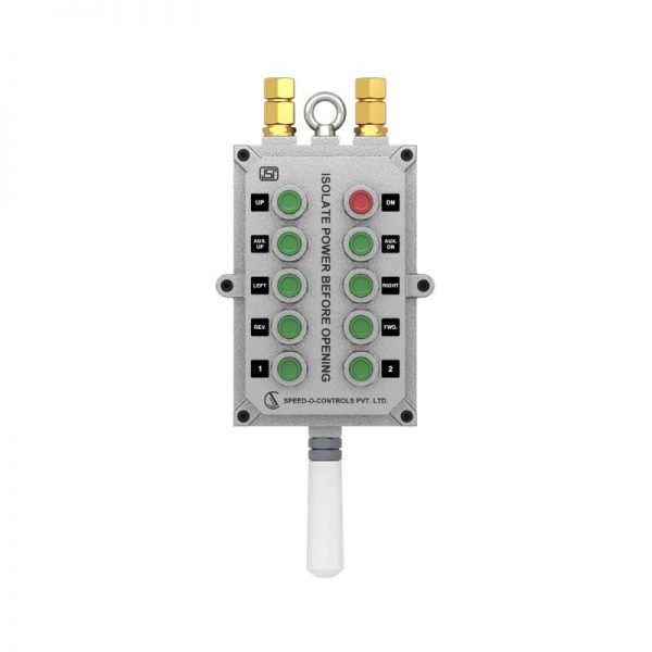 Flame Proof Pendants Push Button Station with 10 Push Button - Zone I & 2, Gas Group 2A/ 2B